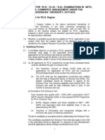 Ravenshaw University Phd Rules