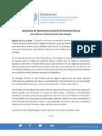 Declaración Jefe Mision ONU Colombia 2020.04.27