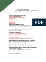 Cuestionario de Derecho Civil No.1