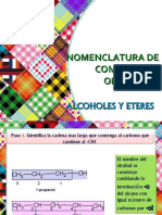 NOMENCLATURA DE COMPUESTOS ORGANICOS-ALCOHOLES Y ETERES