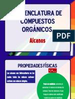 NOMENCLATURA DE COMPUESTOS ORGANICOS-ALCANOS