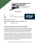 COMUNICADO No. 01