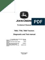 Tm1501 Diagnostic 7600, 7700, 7800 Tractors