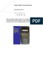 calculating parallel circuit resistance