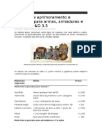 Lista de Efeitos de armas e armaduras