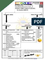 ACCOUNTANCY CLASS 12 SYLLABUS (CBSE 2020-21)