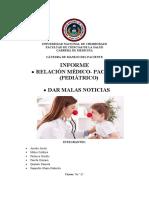 RELACION MEDICO PACIENTE(PEDIATRICO), DAR MALAS NOTICIAS.docx