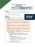 Evaluar fracciones algebraicas