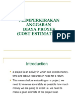 Week 11-12 Estimasi Anggaran Biaya Proyek