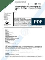 NBR 7974 de 2001 - Determinação do Ponto de fulgor.pdf