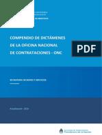 Compendio de Dictamenes Onc Actualizacion 2012-2018