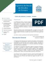 Fólder de Informaciones - Programa Europa