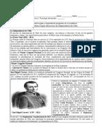 Guia de actividad etapas de la indep. de Chile Scrib