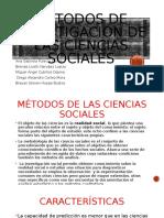 Métodos de investigación de las ciencias sociales