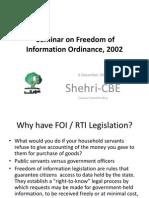 Freedom of Information Shehri Seminar - 6 December 2010