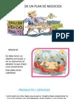 ESTRUCTURA DE UN PLAN DE NEGOCIOS(1)