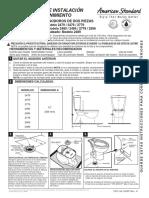 American Standard  Serie 24XX FlowWise Dual Flush dos piezas INSTRUCCIONES DE INSTALACIÓN
