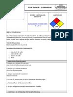 FICHA TECNICA Y DE SEGURIDAD BLANQUEADOR AL 5.25%