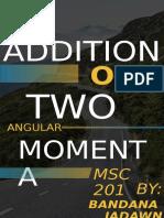 ADDITION OF ANGULAR MOMENTUM