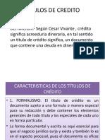PRIMERA CLASE TITULOS DE CREDITO