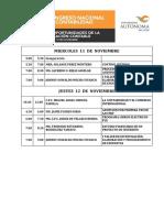 Programa de ponencias