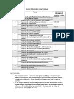 Distribución de tareas Ministerios y Consejos de desarrollo