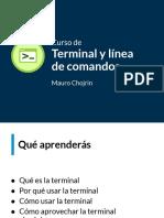 slides-terminal y linea de comandos