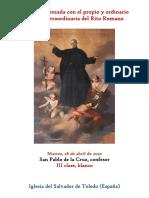 28 de Abril de 2020. San Pablo de La Cruz, confesor. Propio y Ordinario de la misa