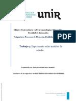 Experimento Sobre Modelos de Estudios (Memoria) UNIR