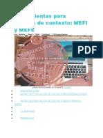 Herramientas para análisis de contexto MEFE Y MEFFI