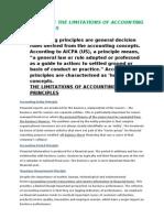 Limitations of Accounting Principles
