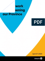 A Framework for Reopening Ontario