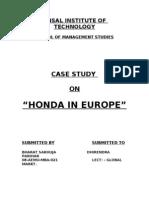 Hero Honda Case Study With Summary and Ans