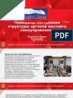 Принципы построения структуры органов местного самоуправления