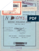 U-Boat Monthly Report - Feb 1943