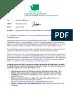 Proclamation 20-25 - Addendum Implementation of Phase 1 Construction Restart