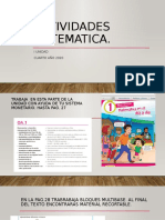 ACTIVIDADES MATEMATICA SEMANA 30-2 DE ABRIL
