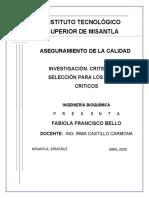 INVESTIGACIÓN ASEGURAMIENTO DE LA CALIDAD