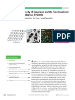Behavior and Toxicity of Graphene and Its Functionalized Derivatives in Biological Systems