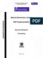 SAP CO Business Blueprint