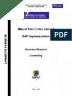 SAP CO Business Blueprint