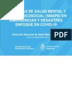 LINEAMIENTOS  PARA PROFESIONALES DE SALUD MENTAL ATENCIÓN REMOTA SMAPS COVID-19