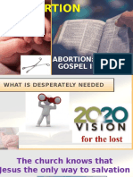 Abortion is It a Gospel Issue