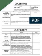 Clofibrato y Clorestipol