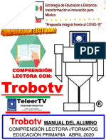 Lectomática Con Trobotv Manual Escolar Comprensión Lectora 2020