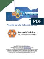 Plantilla para Estrategia Preliminar de Enseñanza Remota-Con instrucciones-Final