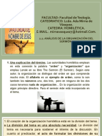 2.2. ANALISIS DE LA ORGANIZACION DEL SERMON