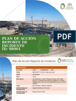 PLAN DE ACCIÓN REPORTE DE INCIDENTE 98901