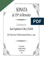 SONATA de Remedos (Juan Capistrano Coley y Embid). Fernando Abaunza