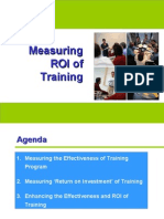 Measuring ROI of Training
